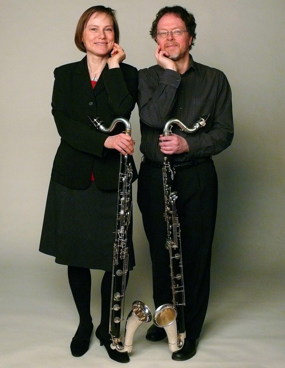 Die Klarinettisten Beate Zelinsky und David Smeyers - das Klarinettenduo